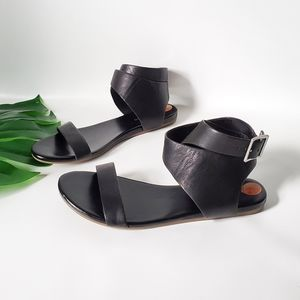 Franco Sarto Benita Leather Ankle Buckle S…